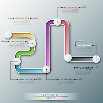 Infografía moderna plantilla de línea de tiempo