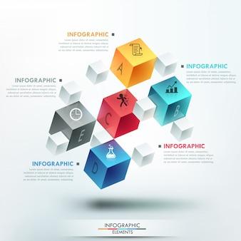 Infografía moderna plantilla de opciones