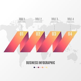 Infografía moderna plantilla de pasos