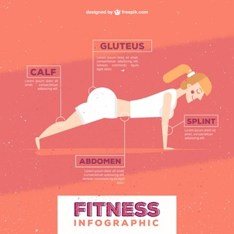 Infografía de mujer fitness