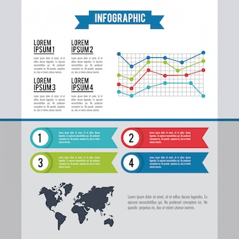 Infografía del mundo entero