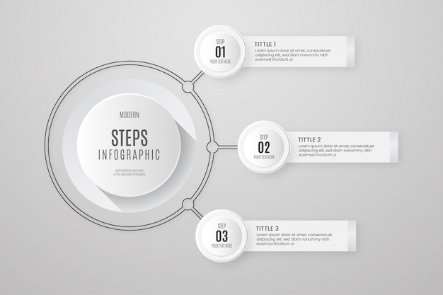 Infografía de negocios blanco
