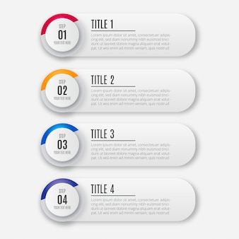 Infografía de negocios colorido moderno