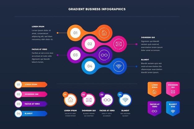 Infografía de negocios coloridos creativos
