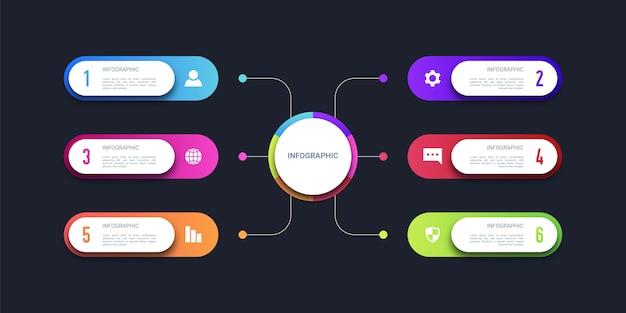 Infografía de negocios coloridos modernos