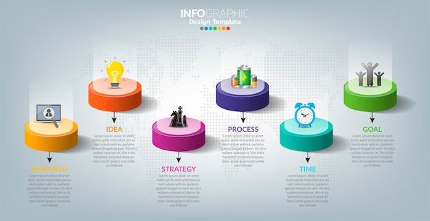 Infografía para negocios con concepto de éxito.