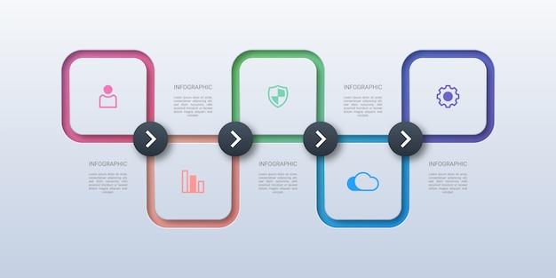 Infografía de negocios cuadrados