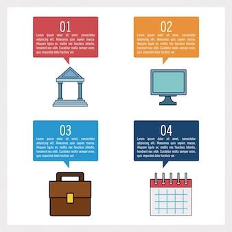 Infografía de negocios y educación