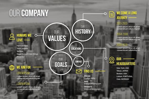 Infografía de negocios con foto
