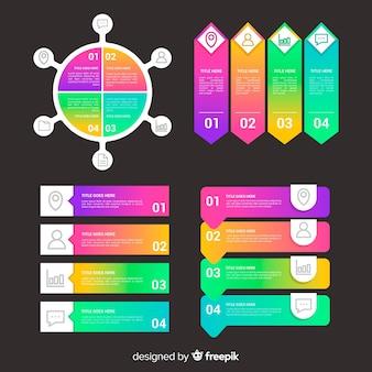 Infografía de negocios gradiente