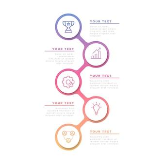 Infografía de negocios en gradiente
