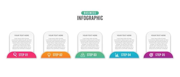 Infografía de negocios con icono