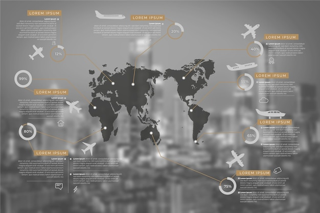 Infografía de negocios con imagen