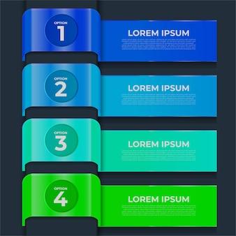 Infografía de negocios. línea de tiempo con 4 pasos.