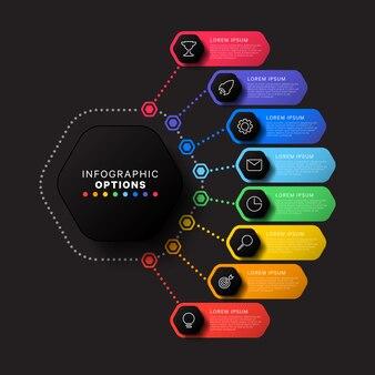 Infografía de negocios modernos con elementos realistas. plantilla de informe corporativo