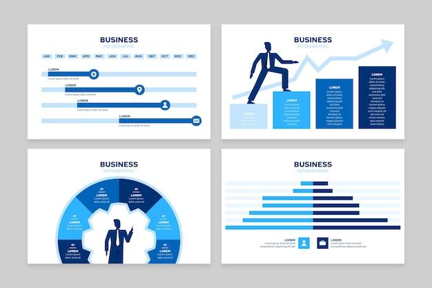 Infografía de negocios plana