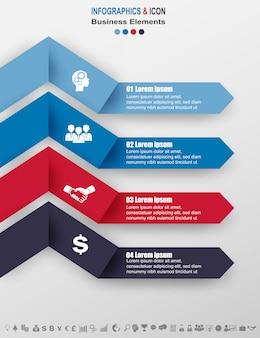 Infografía de negocios timeline proceso gráfico plantilla.