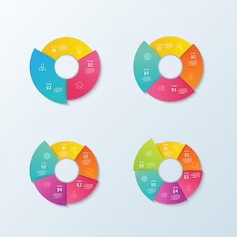 Infografía de negocios y visualización de datos.