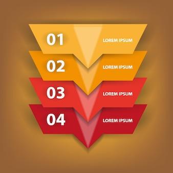 Infografía numérica sobre fondo blanco ilustración vectorial
