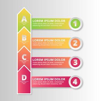 Infografía con número de pasos.