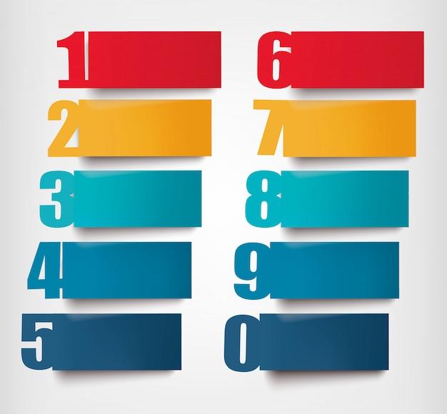 Infografía con números y camadas ... diseño retro