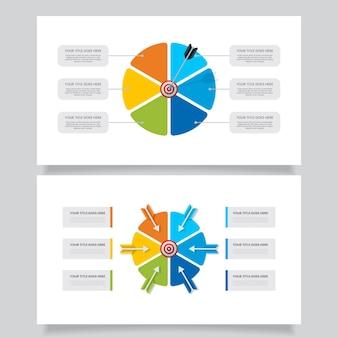 Infografía de objetivos coloridos creativos