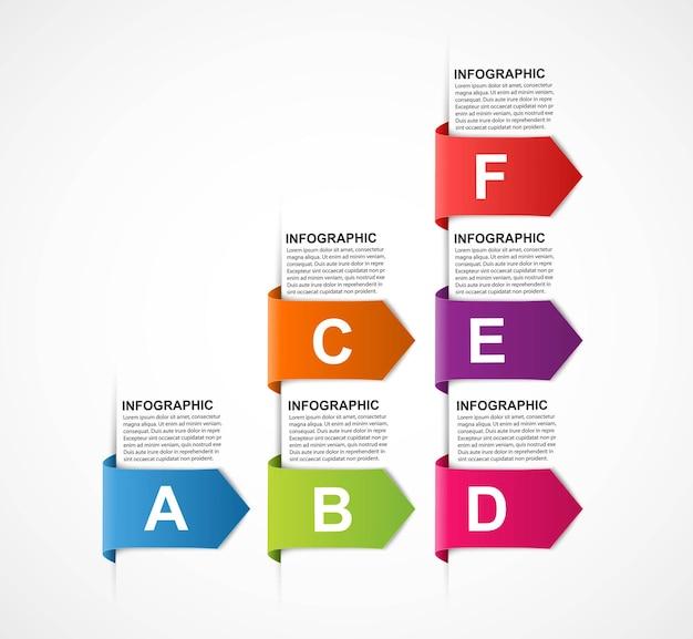 Infografía de opciones comerciales, línea de tiempo, plantilla de diseño