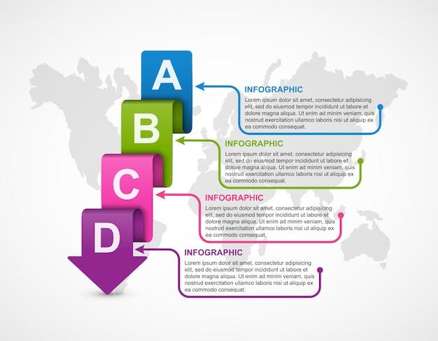 Infografía de opciones de negocio