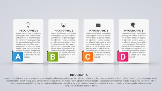 Infografía de opciones de negocio.