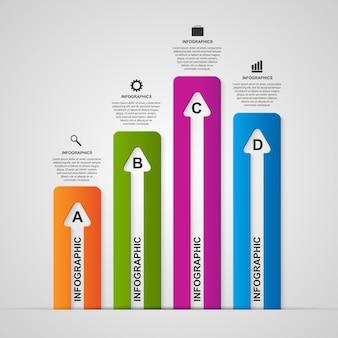 Infografía de opciones de negocios.