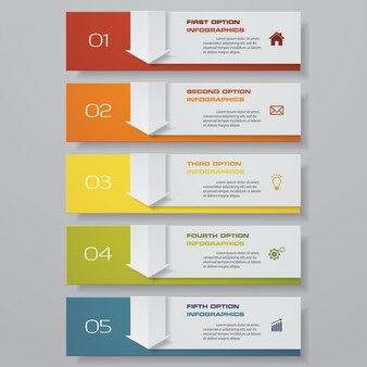 Infografía con pancartas verticales