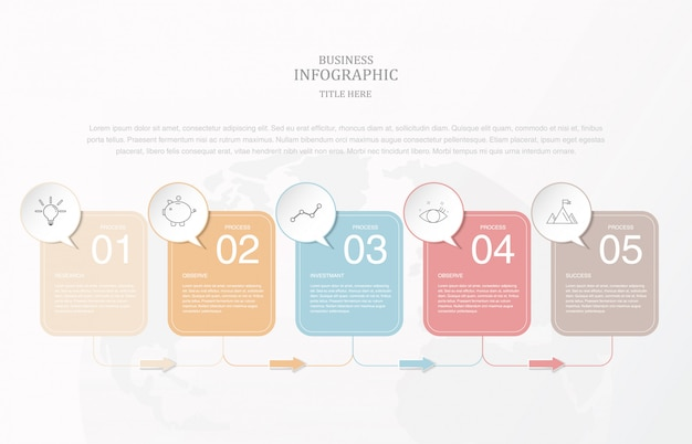 Infografía de papel de caja cuadrada para plantilla de diapositiva de presentación.