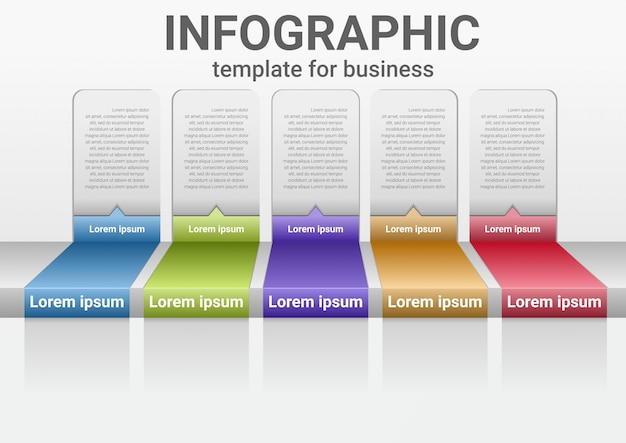Infografía de pasos comerciales para datos de éxito. gráfico de presentación diagrama con plantilla de pasos.