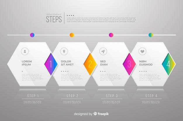 Infografía de pasos empresariales