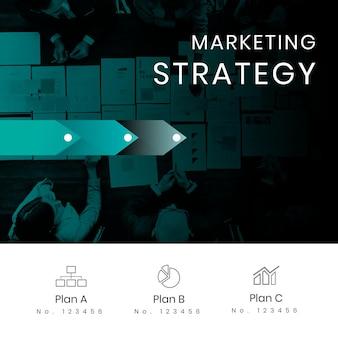 Infografía de pasos de estrategia de marketing
