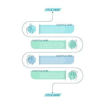 Infografía de pasos planos