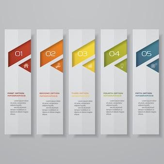 Infografía de pasos para presentación de datos.
