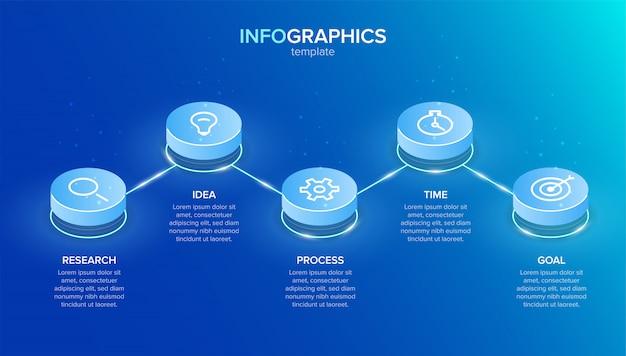 Infografía con pasos