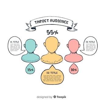 Infografía con personas