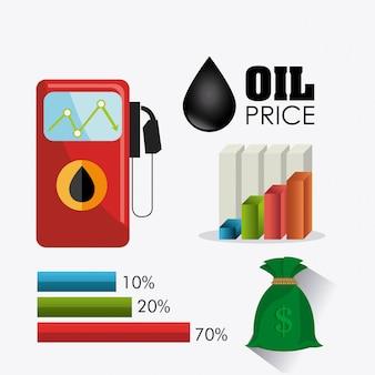 Infografía del petróleo y la industria del petróleo.