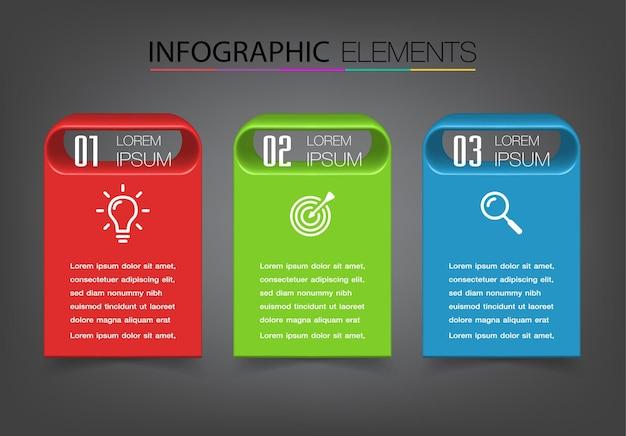 Infografía de plantilla de cuadro de texto moderno