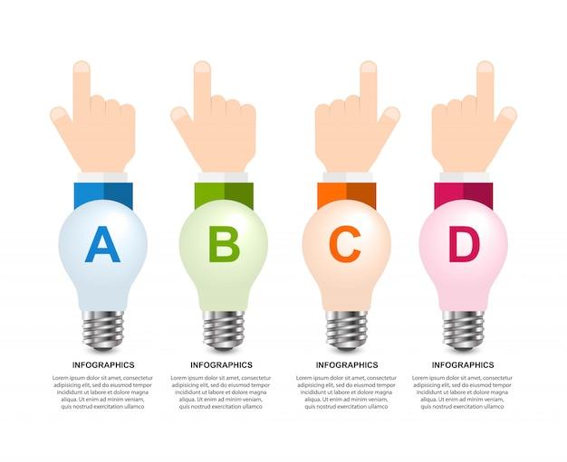 Infografía para presentaciones de negocios o folleto informativo.