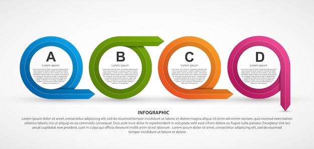 Infografía para presentaciones de negocios.