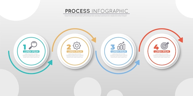 Infografía de proceso plano