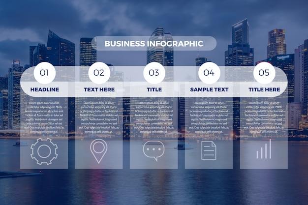 Infografía profesional con foto