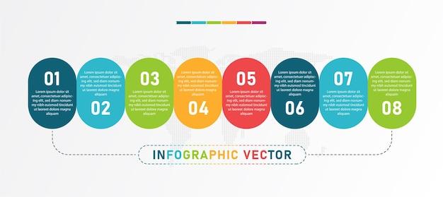 La infografía se puede utilizar para presentar la ilustración de procesos.