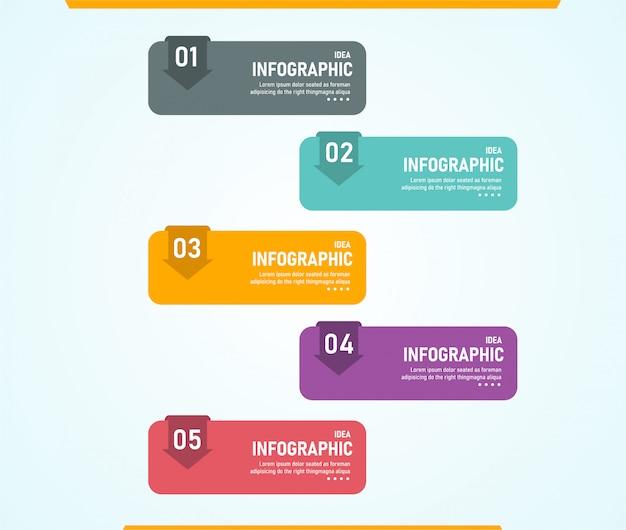Infografía, se puede utilizar para el proceso de presentación, esquema, banner, gráfico, capa de datos