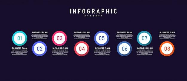 La infografía se puede utilizar para procesos, presentaciones, diseños, pancartas, gráficos y capas.