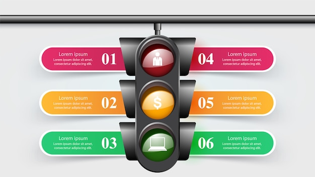 Infografía de semáforo