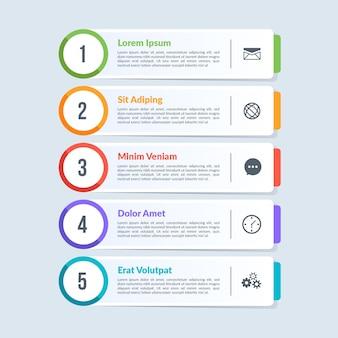 Infografía de tabla de contenido plana